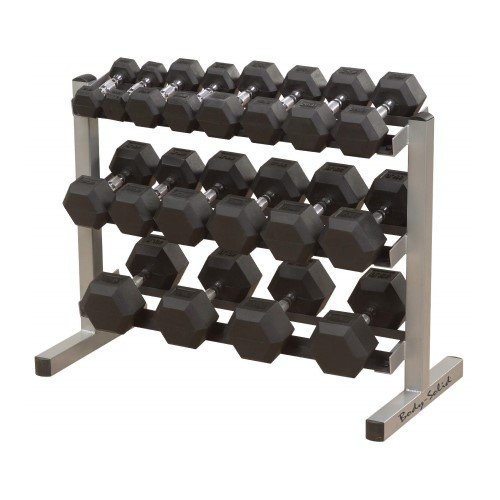 Body-Solid Three-Tier Horizontal Dumbbell Rack
