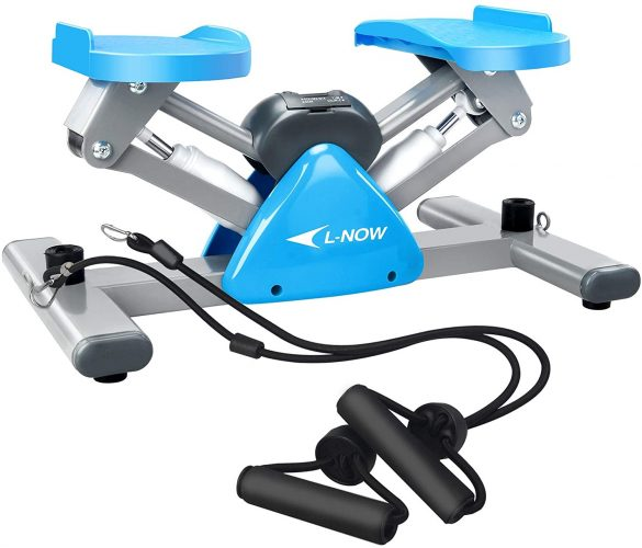 L NOW Mini Stair Stepper for Exercise with Resistance Bands